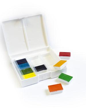 Barvy v pánvičkách