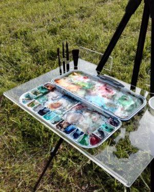 Odkládací malířský stolek
